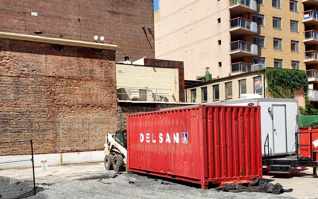 Pre-Demolition Work is ongoing at The Saint