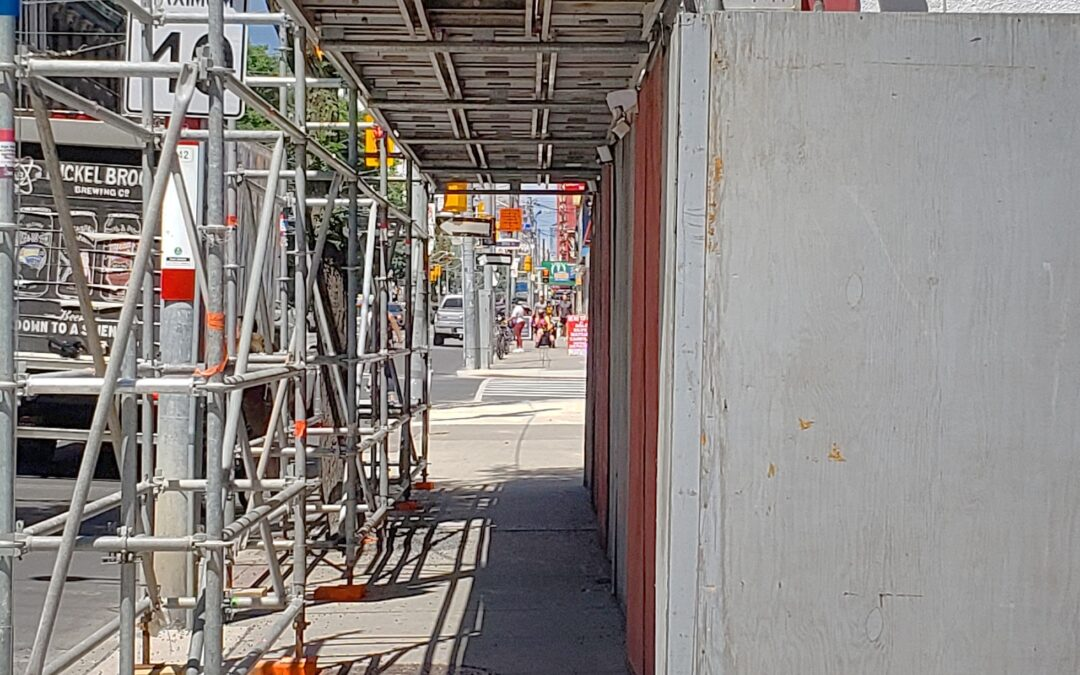 Covered Walkway Up on Church Street at the Saint