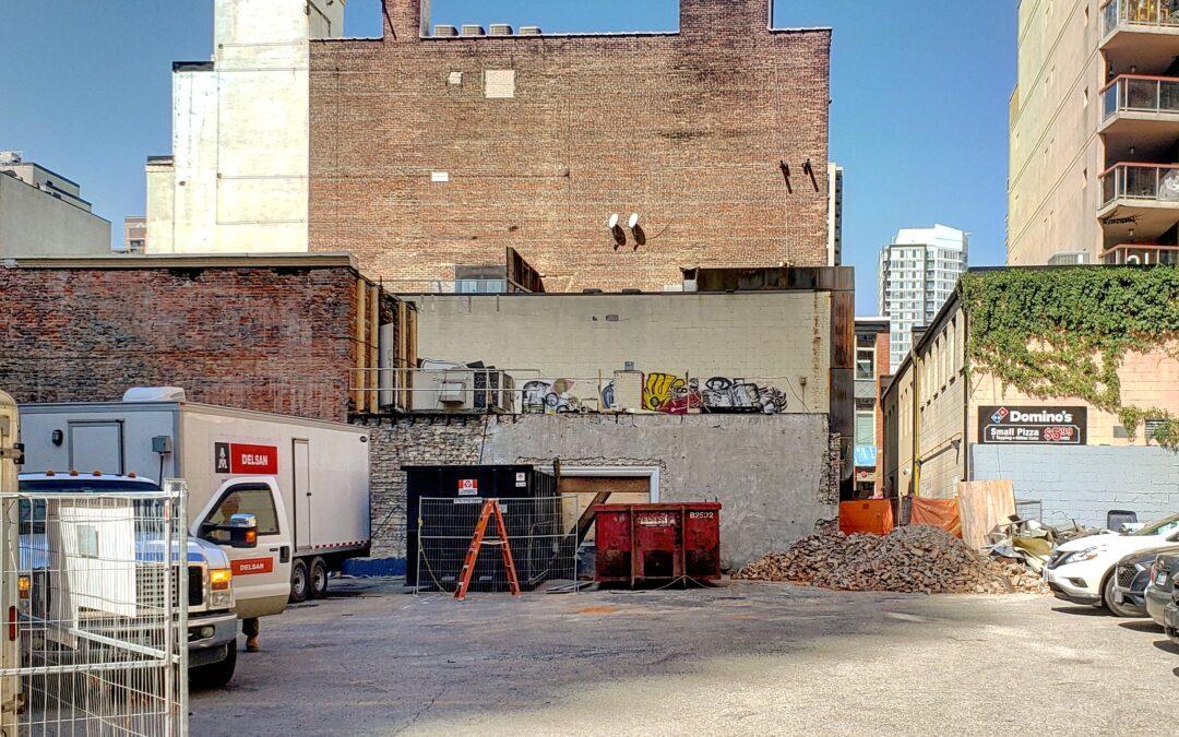 Demolition Progresses at The Saint construction site.