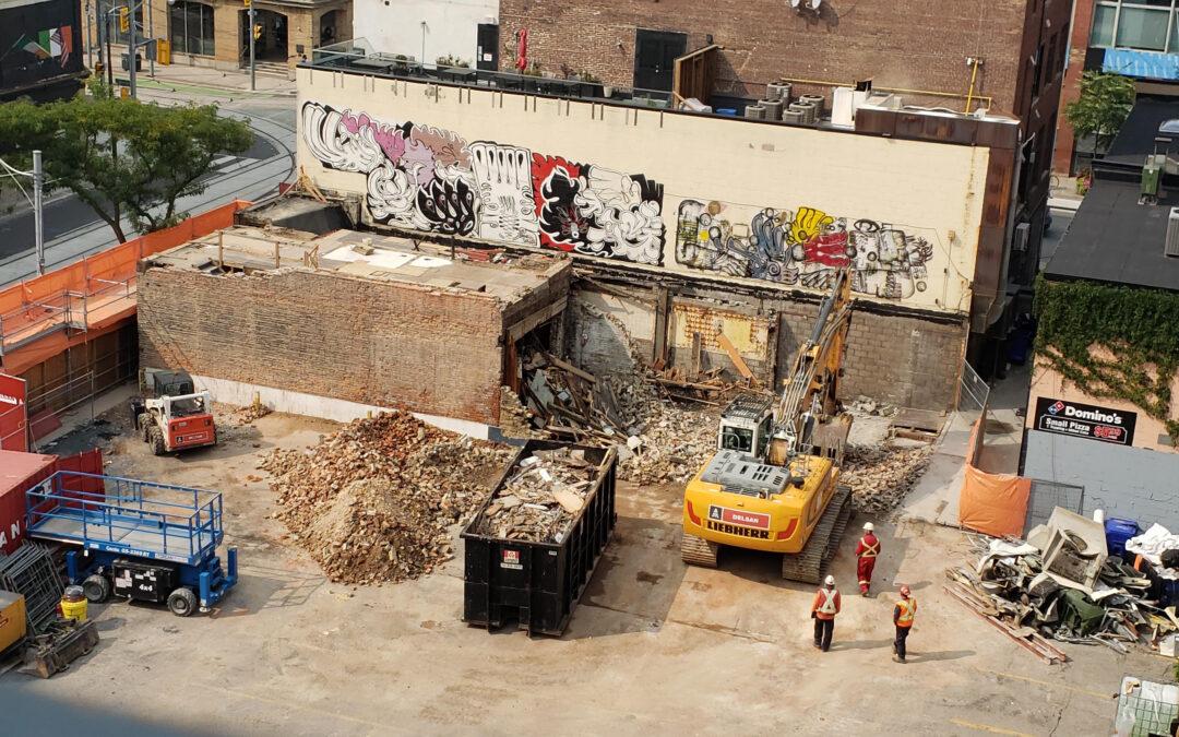 Demolition Update for The Saint Construction Site