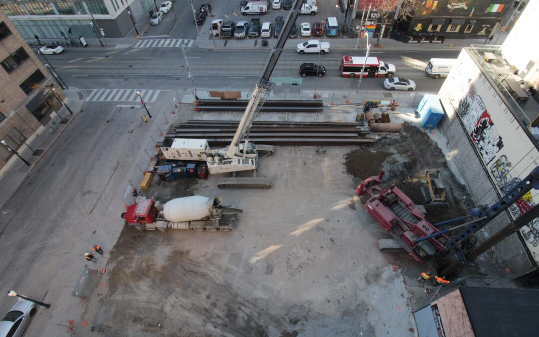 Drilling work gets underway at the Saint